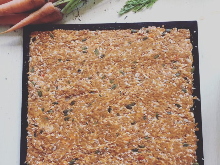 2 Ingredient Raw Vegan Flax Crackers