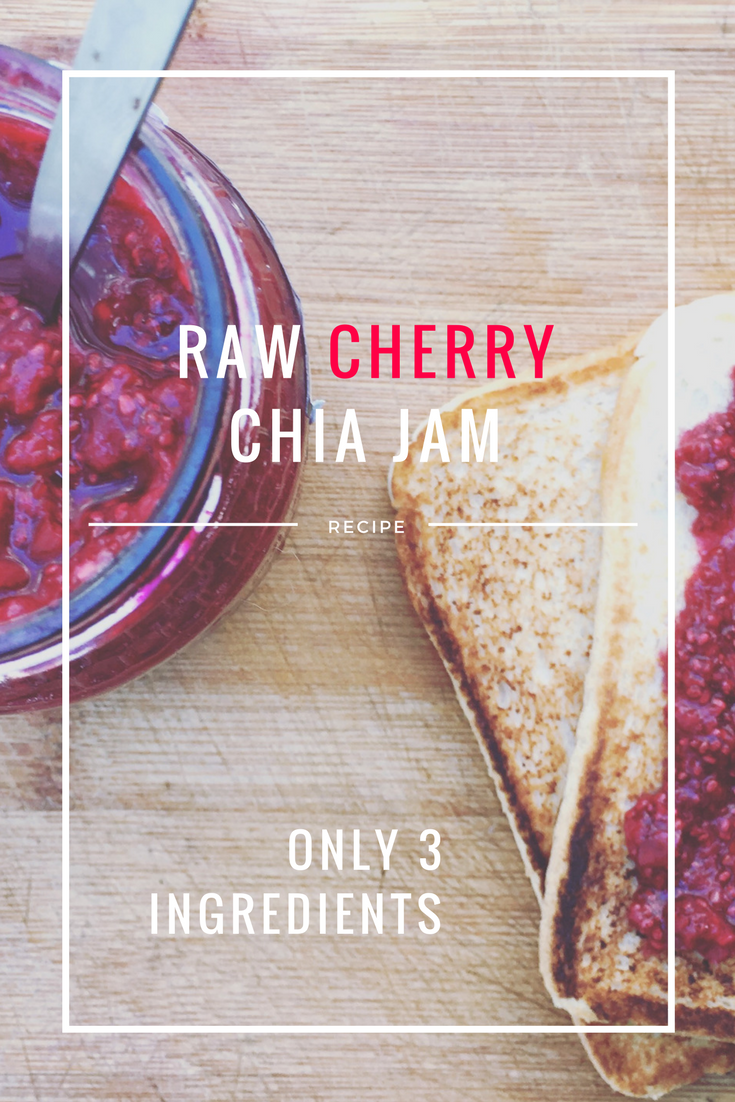 Raw Vegan Cherry Chia Jam