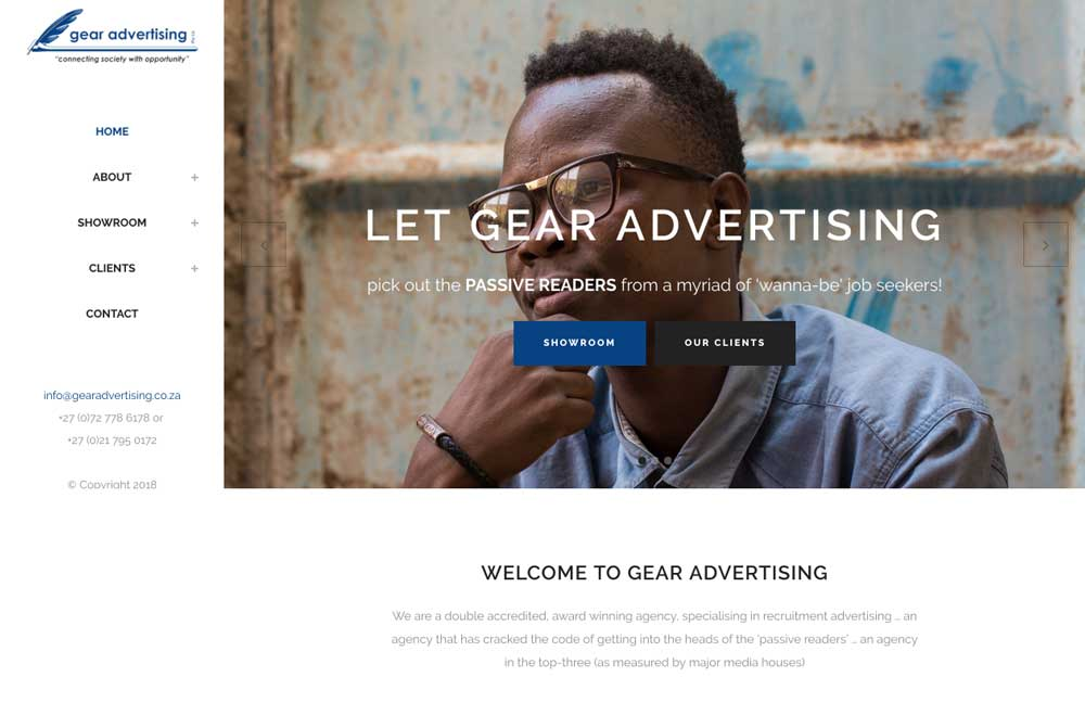 Gear Advertising web design | The Organic Gypsy