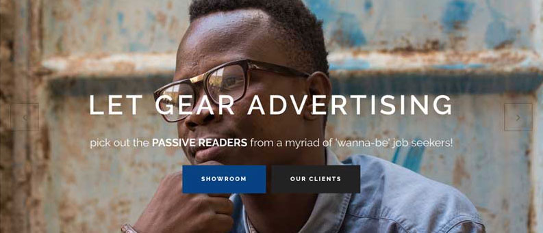 Gear Advertising Web design and development