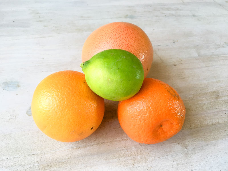 colourful citrus fruit