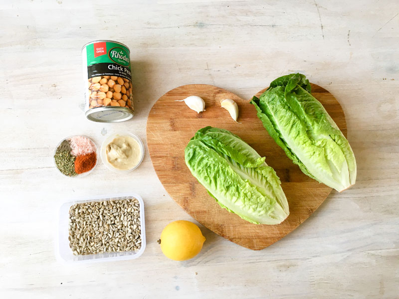 healthy vegan Caesar salad ingredients